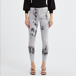 NWT's Zara Premier Skinny Black Splash Jean 27  4